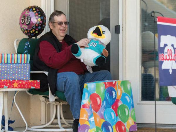 resident celebrating birthday