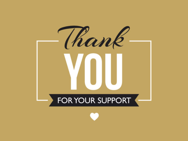 Thank you for your support message