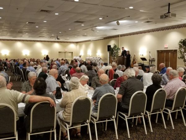 Seniors gathered for a banquet